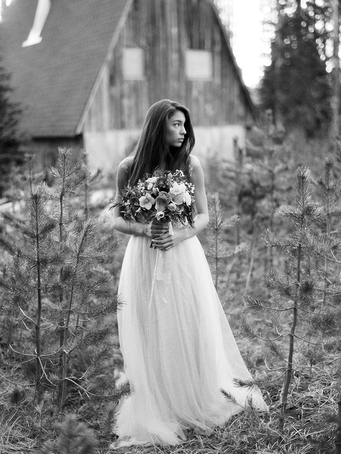 Forest Bridal Portraits Bend OR0003