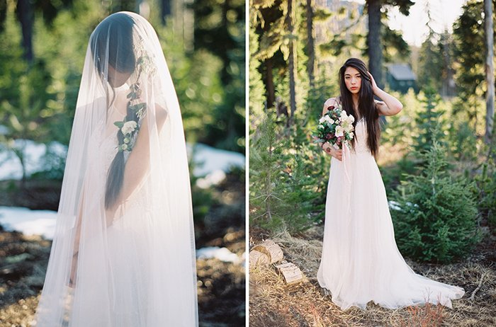 Forest Bridal Portraits Bend OR0011