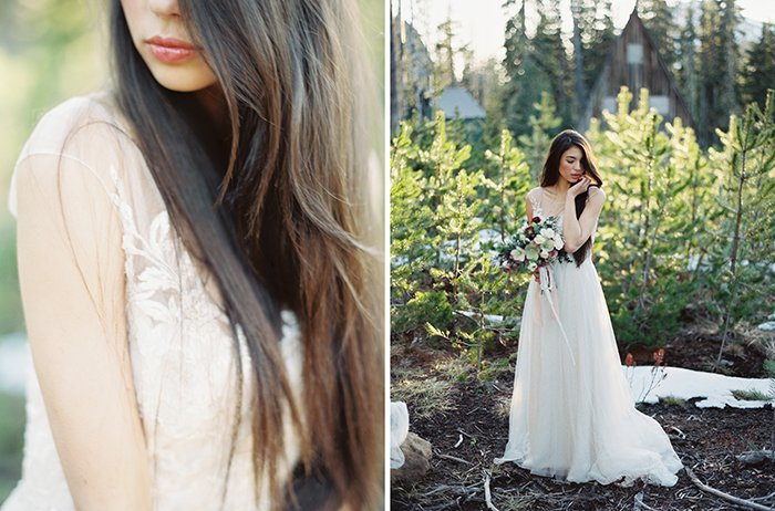 Forest Bridal Portraits Bend OR0016