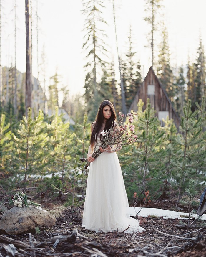 Forest Bridal Portraits Bend OR0027