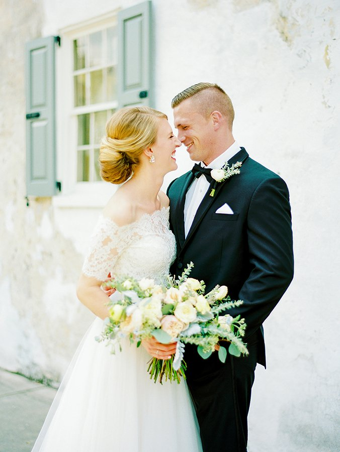 Bride and groom in Charleston