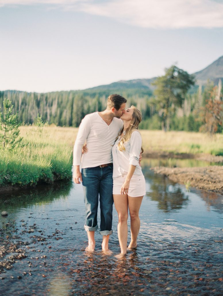 Engagement photos at Sparks Lake