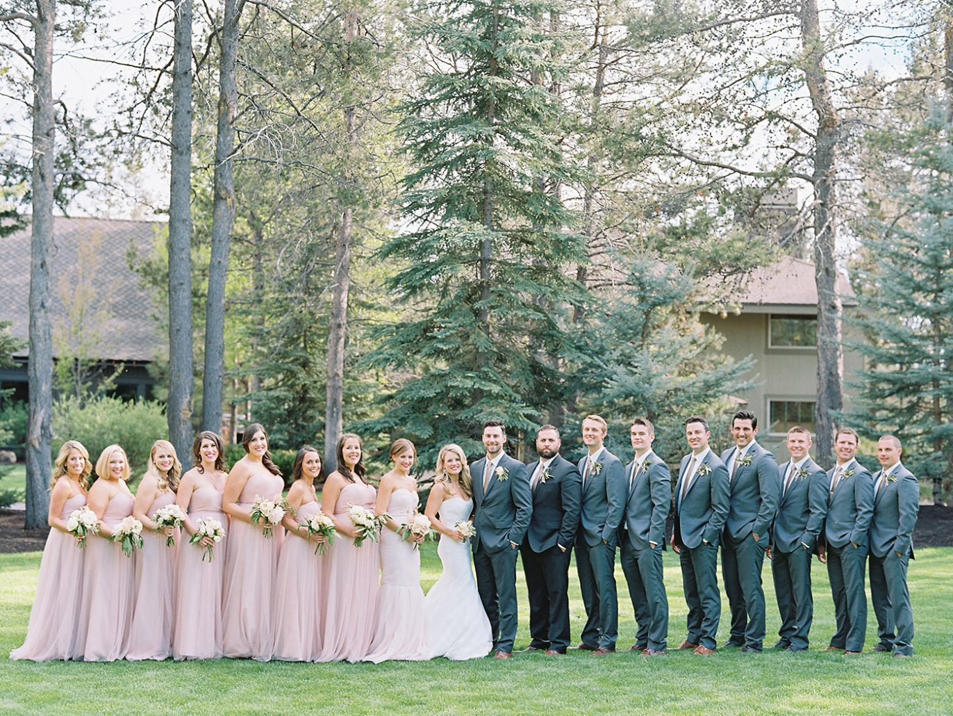 Wedding party at Sunriver Resort