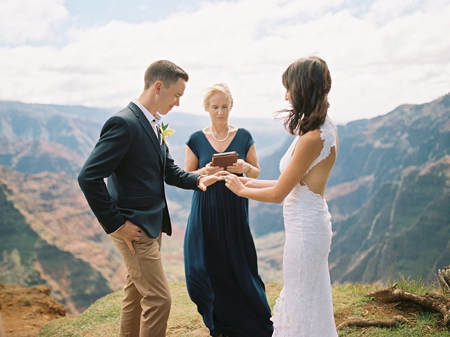 Wedding ceremony at Waimea Canyon Hawaii