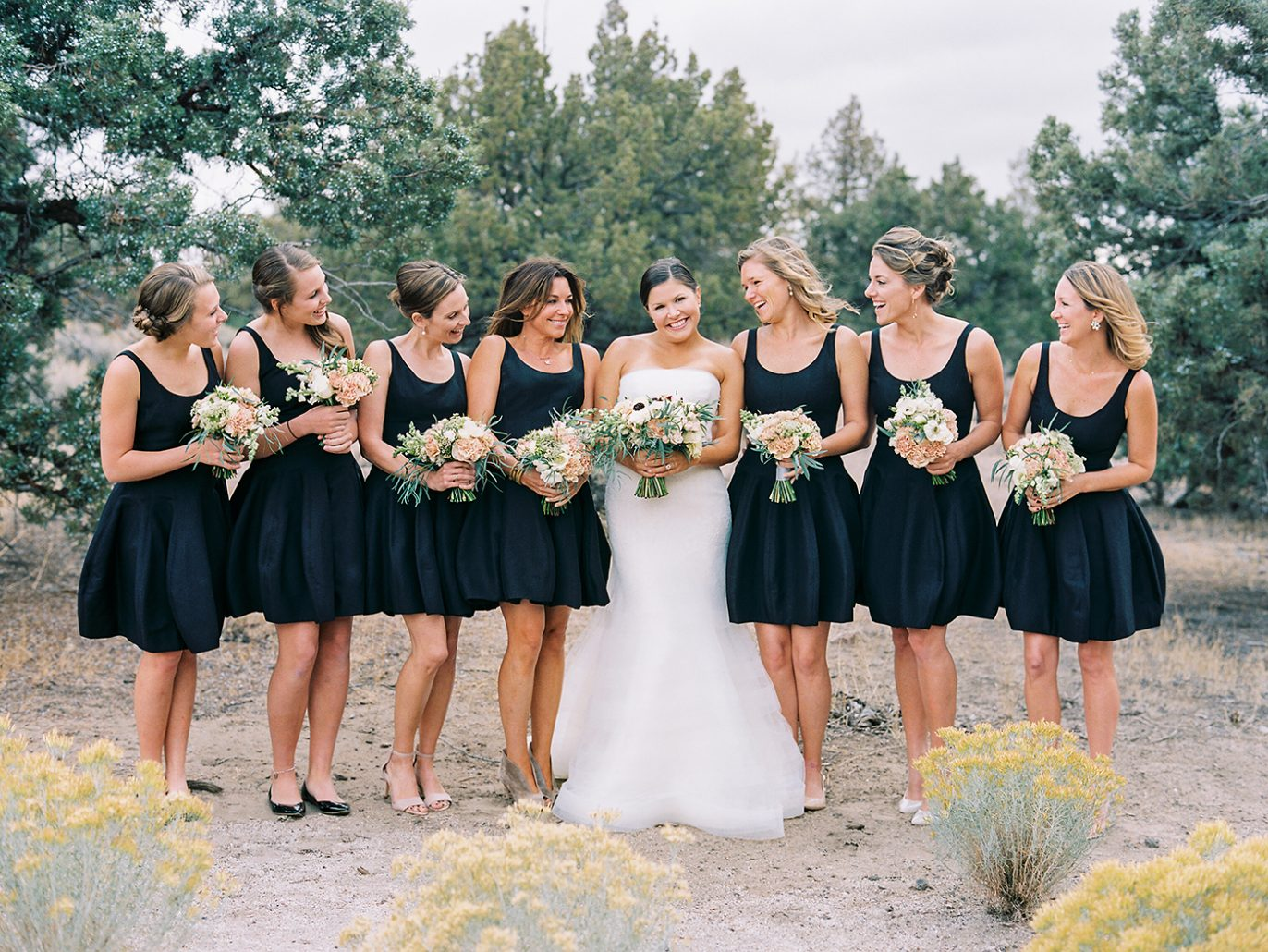 Bride and bridesmaids at Brasada Ranch
