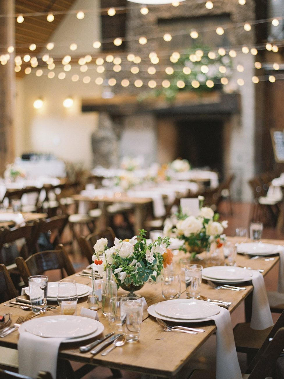 Wedding dinner at Brasada Ranch