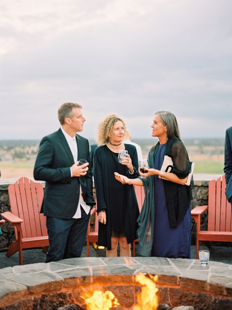 Guests at wedding reception at Brasada Ranch