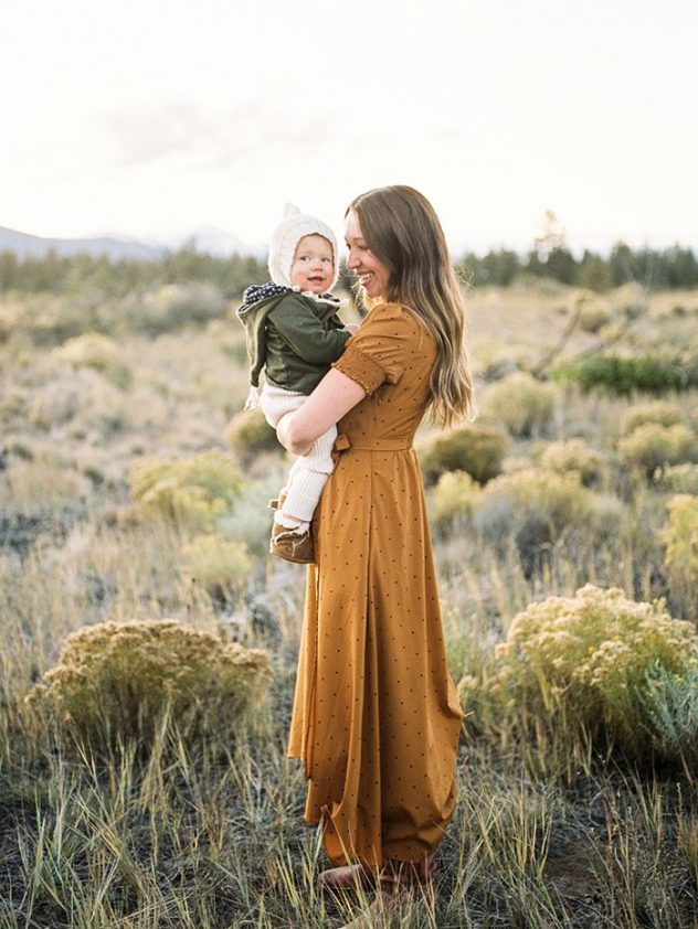 Mother and baby in Bend Oregon